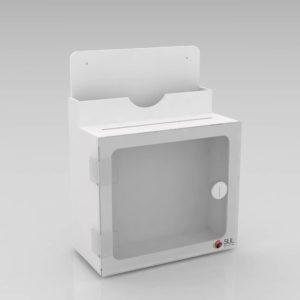 Urna de acrílico modelo caixa de sugestões