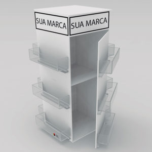 Expositor para acessórios de celular modelo Torre