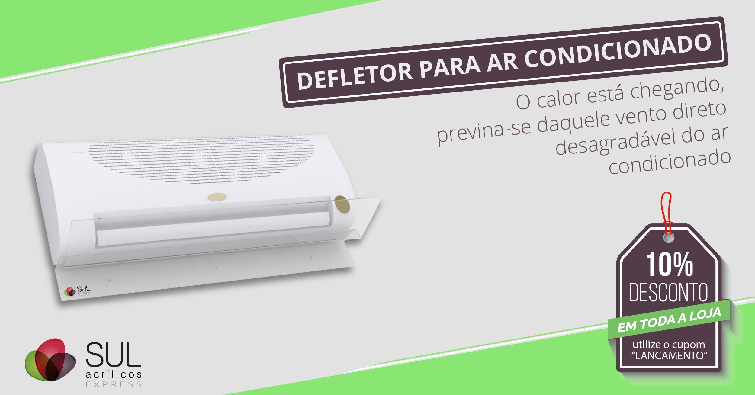 Defletor para ar condicionado
