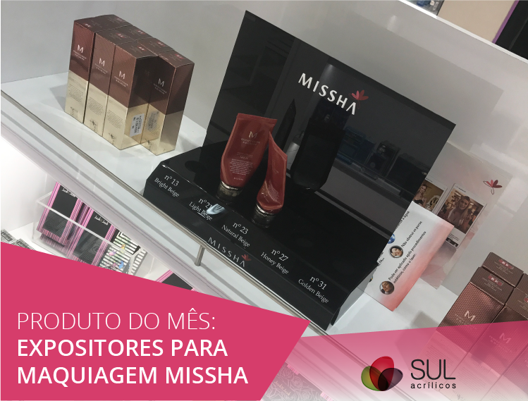 Expositor para Maquiagens Missha