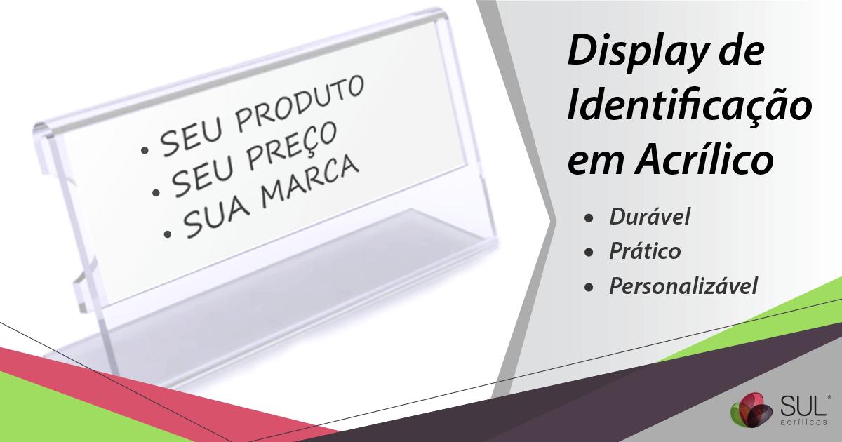 Display de preço e identificação porta etiquetas