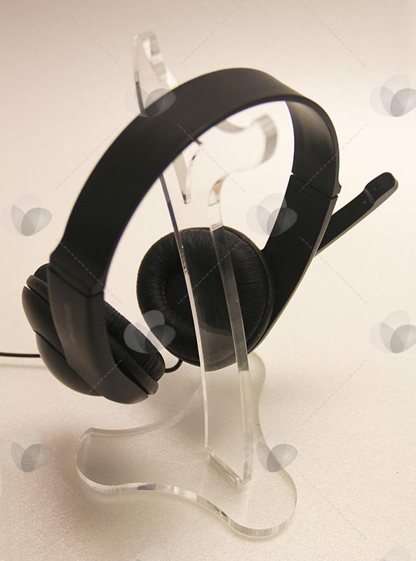 Expositor para Fones de Ouvido em Acrílico