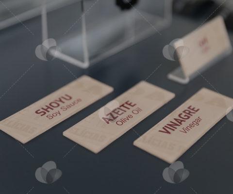 Placas de Identificação para Expositores em Acrílico