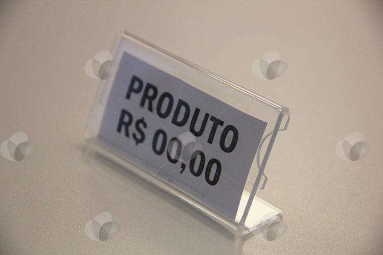 Display de Preço e Identificação em Acrílico