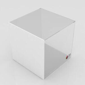 Caixa cubo expositor em acrílico