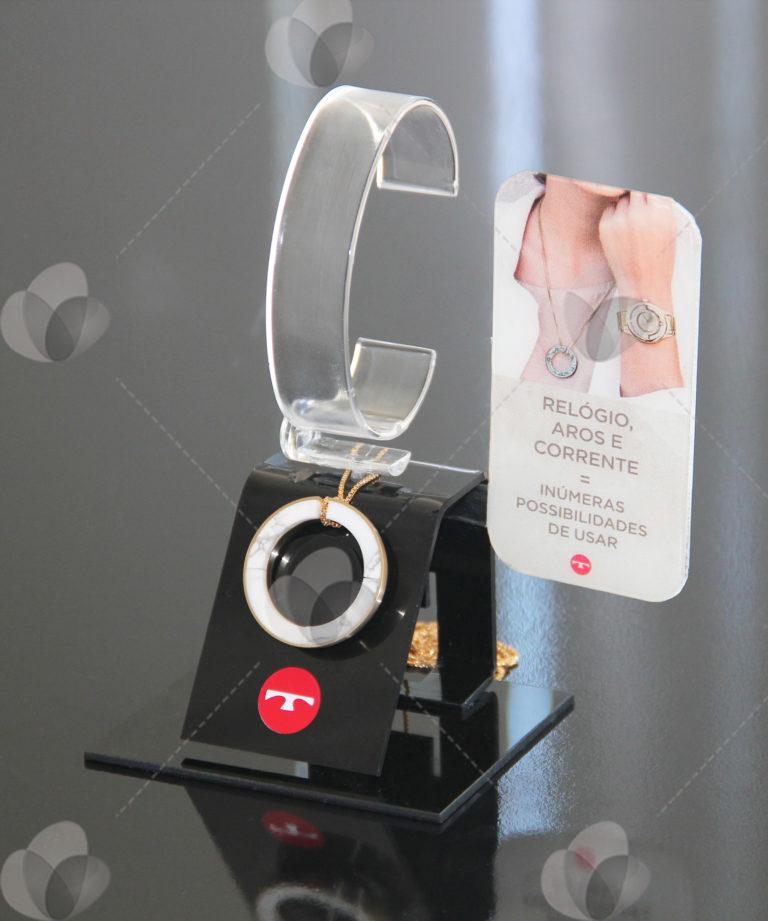 Expositor para Relógios com Suporte para Colar