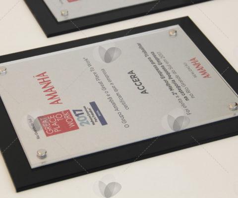 Placa – premiação em acrílico