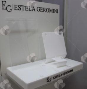 Expositor para pdv modular feito em mdf para acomodar jóias e acessórios