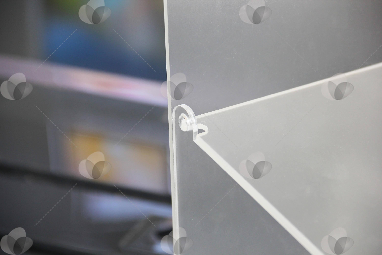 Expositor para acessórios de celular em acrílico com tampa