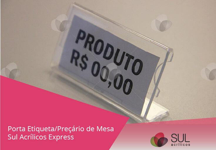 Banner de display de preço