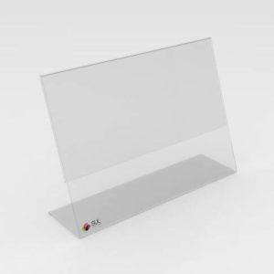Display porta folder modelo L a4 horizontal
