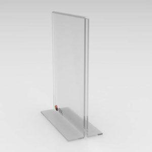 Display porta folha de mesa modelo T invertido