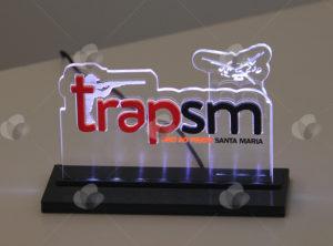 Premiação troféu em acrílico cortado a laser com iluminação LED