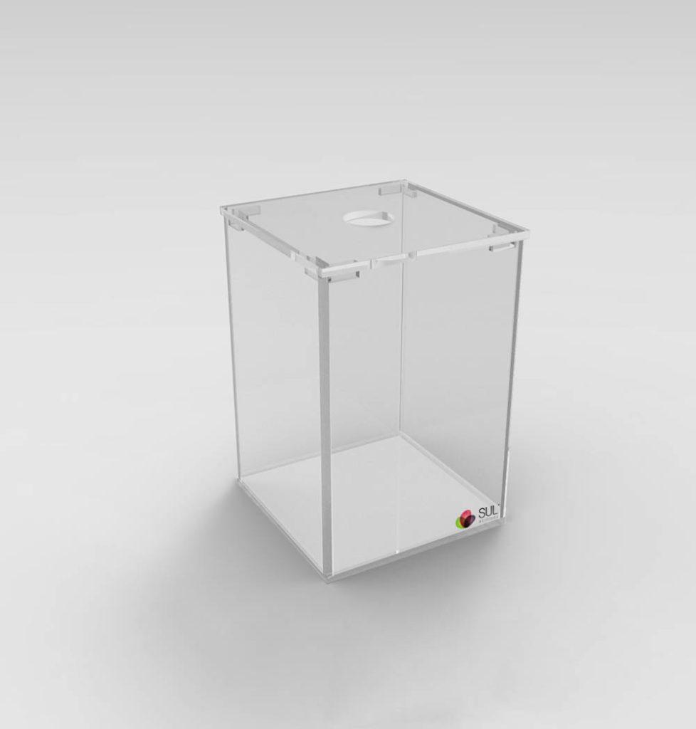 Pote para alimentos em acrílico com transparência ideal para exposição