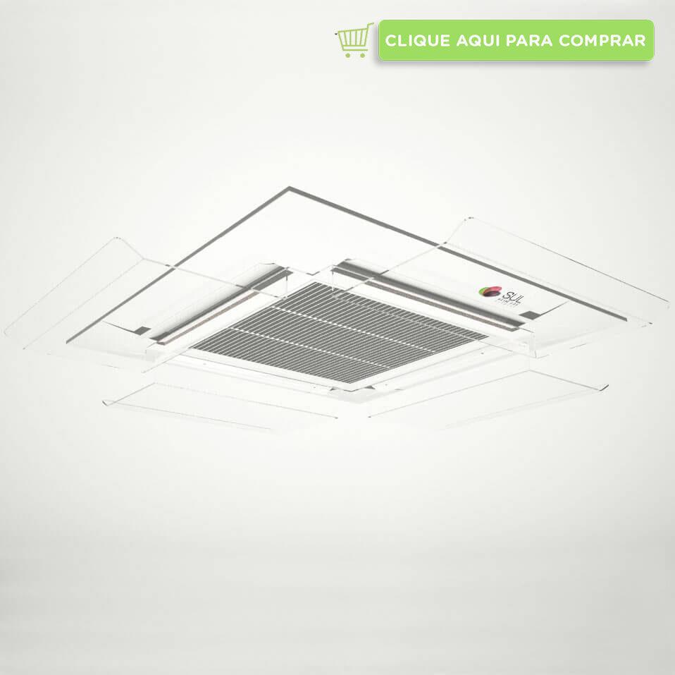Defletor para ar condicionado K7 transparente