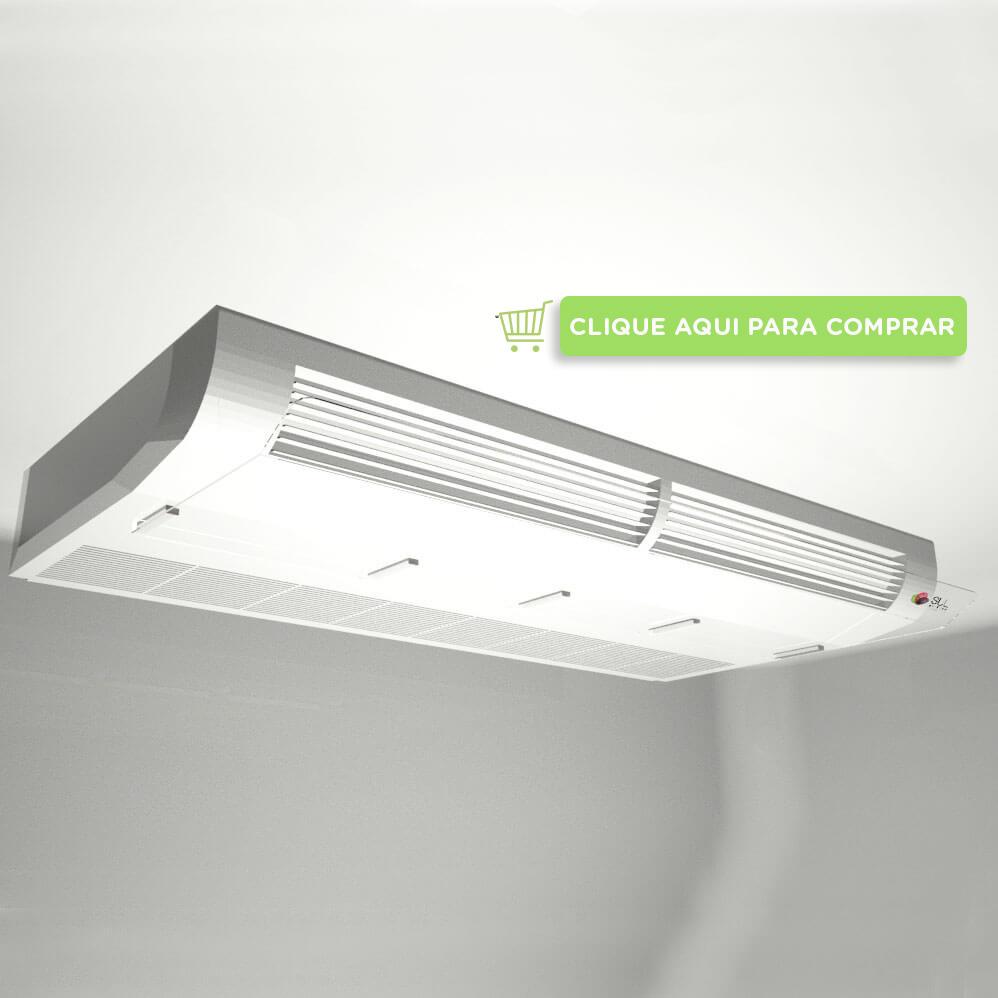 Defletor em acrílico para ar condicionado piso teto de 36000 a 48000 BTUS, cor transparente