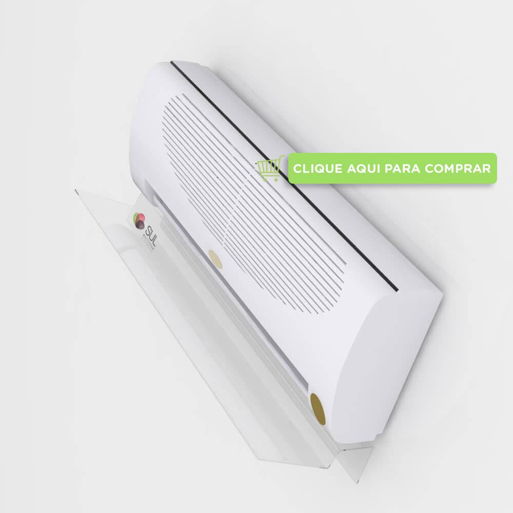 Defletor para ar condicionado split em acrílico, de 7000 a 12000 BTUS
