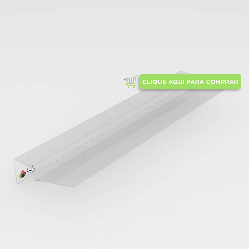 Defletor para condicionadores de ar split em acrílico transparente