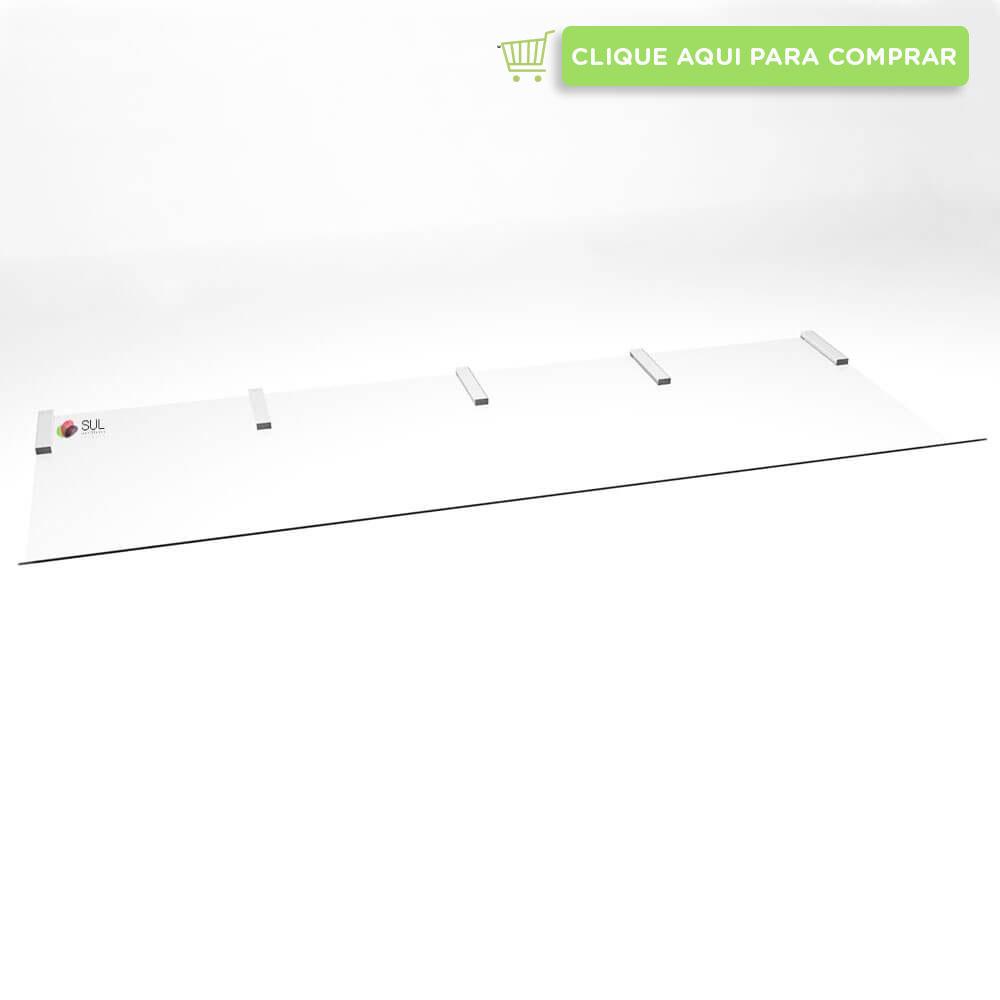 Defletor para ar condicionado piso teto feito em acrílico transparente