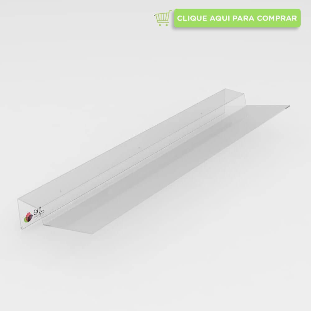 Defletor para ar condicionado feito em acrílcio cristal