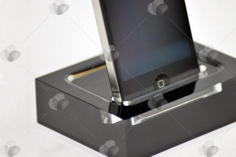 Expositor para Celulares e Tablets em Acrílico Preto