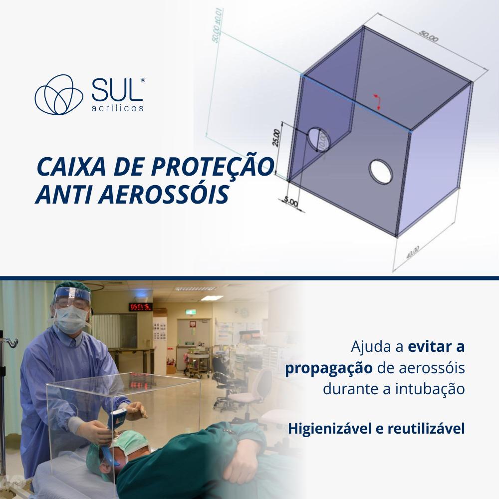 Caixa de proteção anti aerossóis