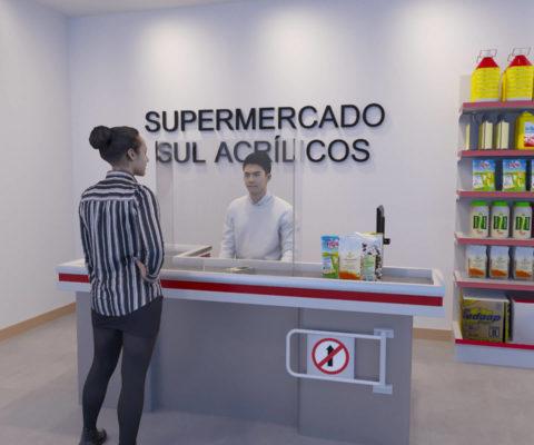 Escudo Protetor Salivar para Supermercado