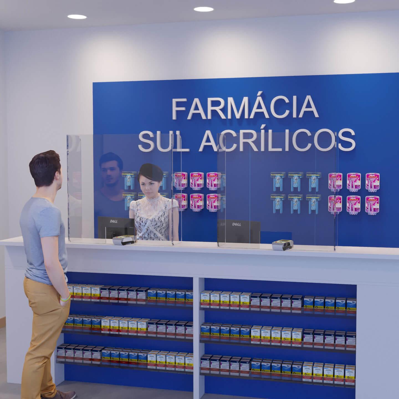 Proteção para caixa de farmácia feita em acrílico