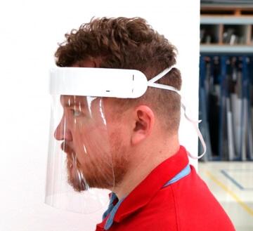 Máscara Face Shield Premium com elástico ajustável