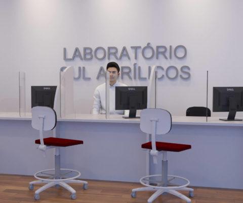 Escudo Protetor para Mesa de Laboratórios e Pronto Atendimentos