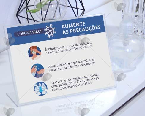 Display de mesa para disponibilizar informações